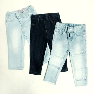 TODDLER GIRLS JEANS Lot of 3